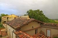 Le soleil couchant sur les toits (juin 2012)