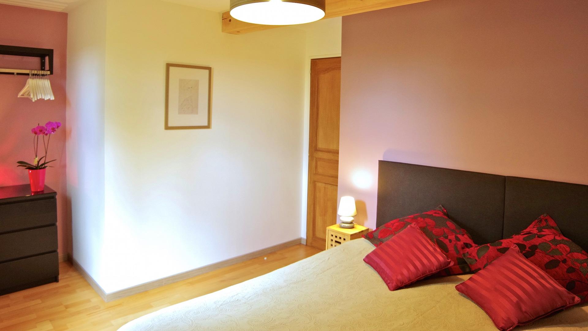 Chambre double ou twin au 1er étage lit 180 ou 2x90