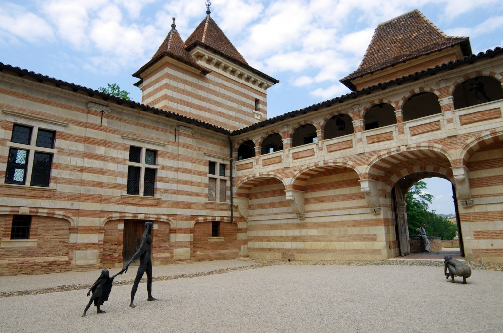 La cour intérieure du Château de Laréole
