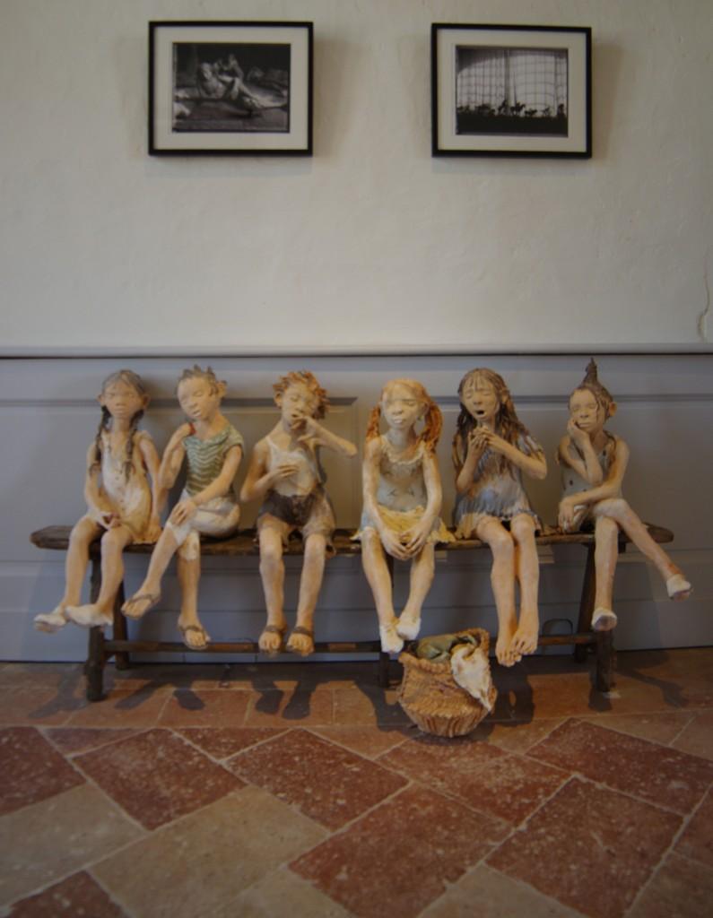 sculptures de fanny ferré au château de laréole