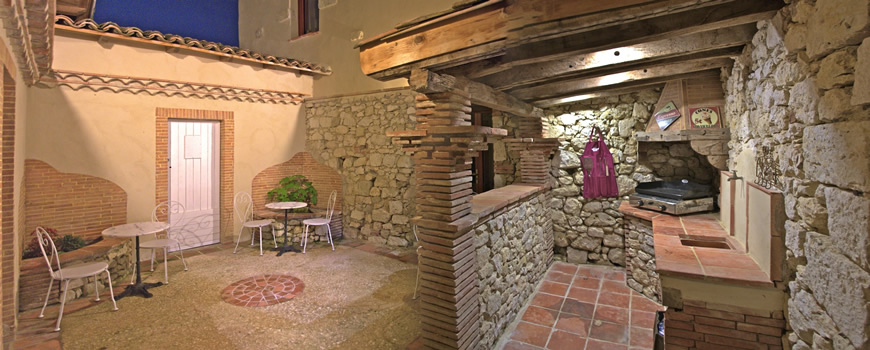 séminaire patio avec plancha de luxe