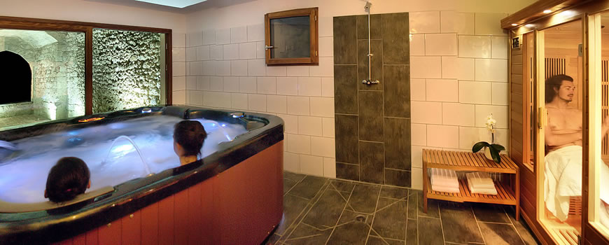 EVJF espace spa avec sauna infrarouge, de nuit