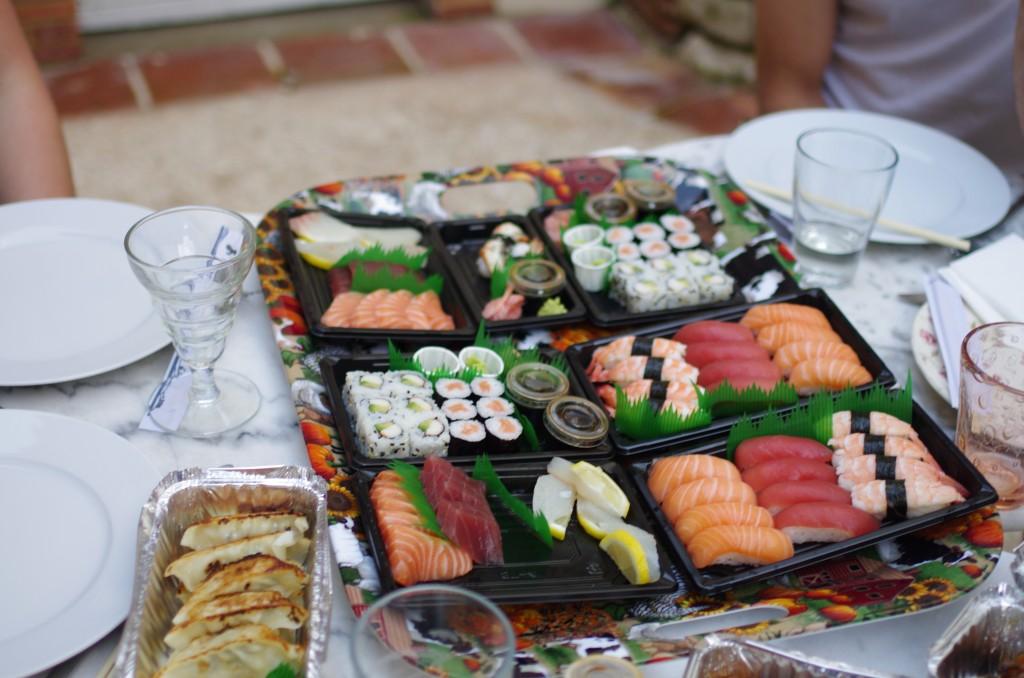 Maki, sushi, sashimi