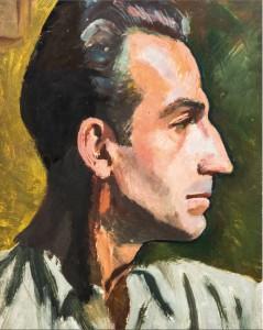 Peinture à l'huile, autoportrait.
