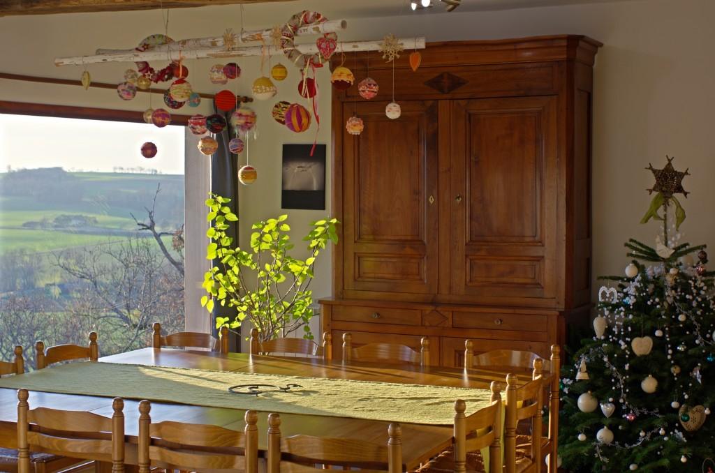 salle à manger pour les fêtes de fin d'année