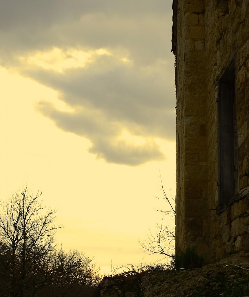 jeu de lumière sur l'ancien château