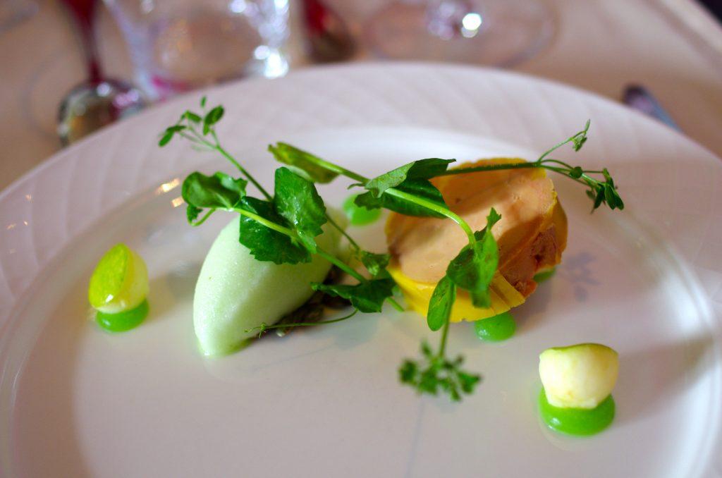 Foie gras de canard mi-cuit-pomme granny