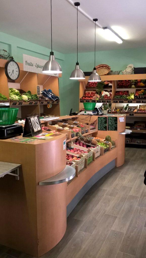 comptoir fruits et légumes conventionnels
