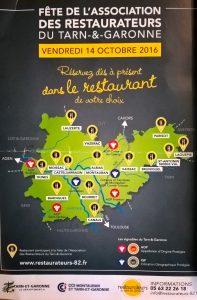 Fête de l'association des restaurateurs du Tarn-et-Garonne.