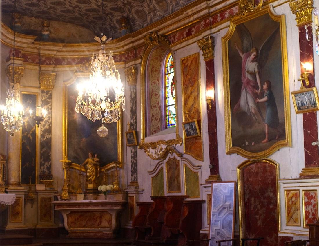Intérieur de l'église de Lachapelle Tarn-et-Garonne, Midi-Pyrénée, Occitanie